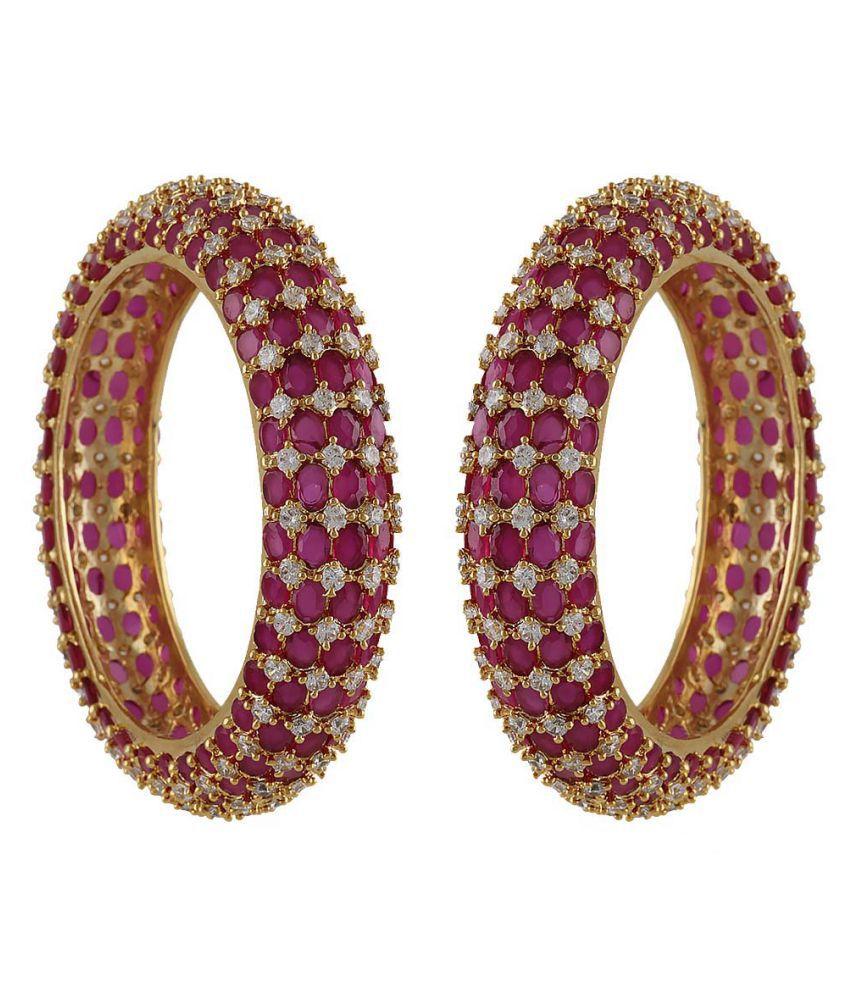 Anuradha Art Silver Finish Designer Adorable Bangles Set for Women//Girls