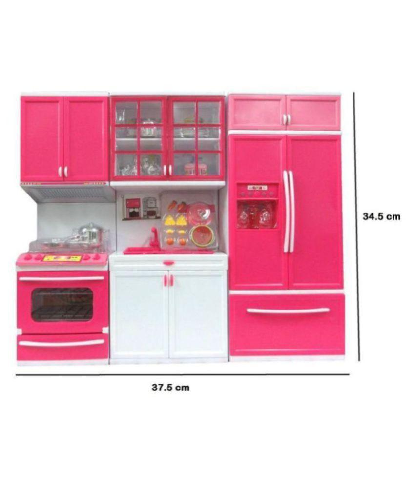 vaibhavi modern kitchen play set with refrigerator - Kitchen Play Set