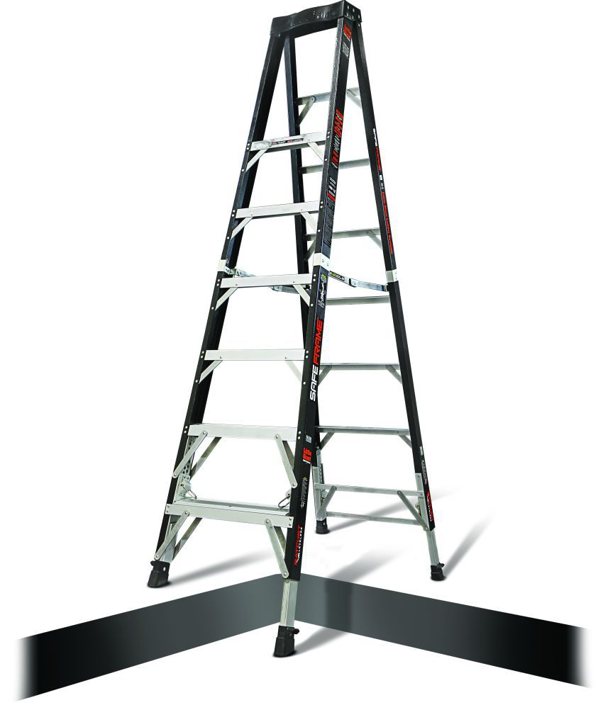 8\' Little Giant Safe Frame Ladder W/Ratchet Levelers: Buy 8\' Little ...