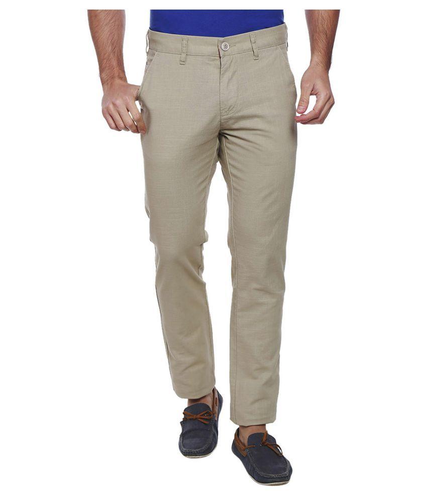 Integriti Grey Slim -Fit Flat Trousers