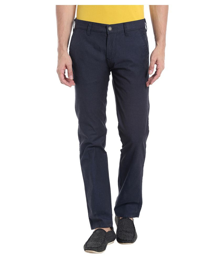 Killer Blue Slim -Fit Flat Trousers