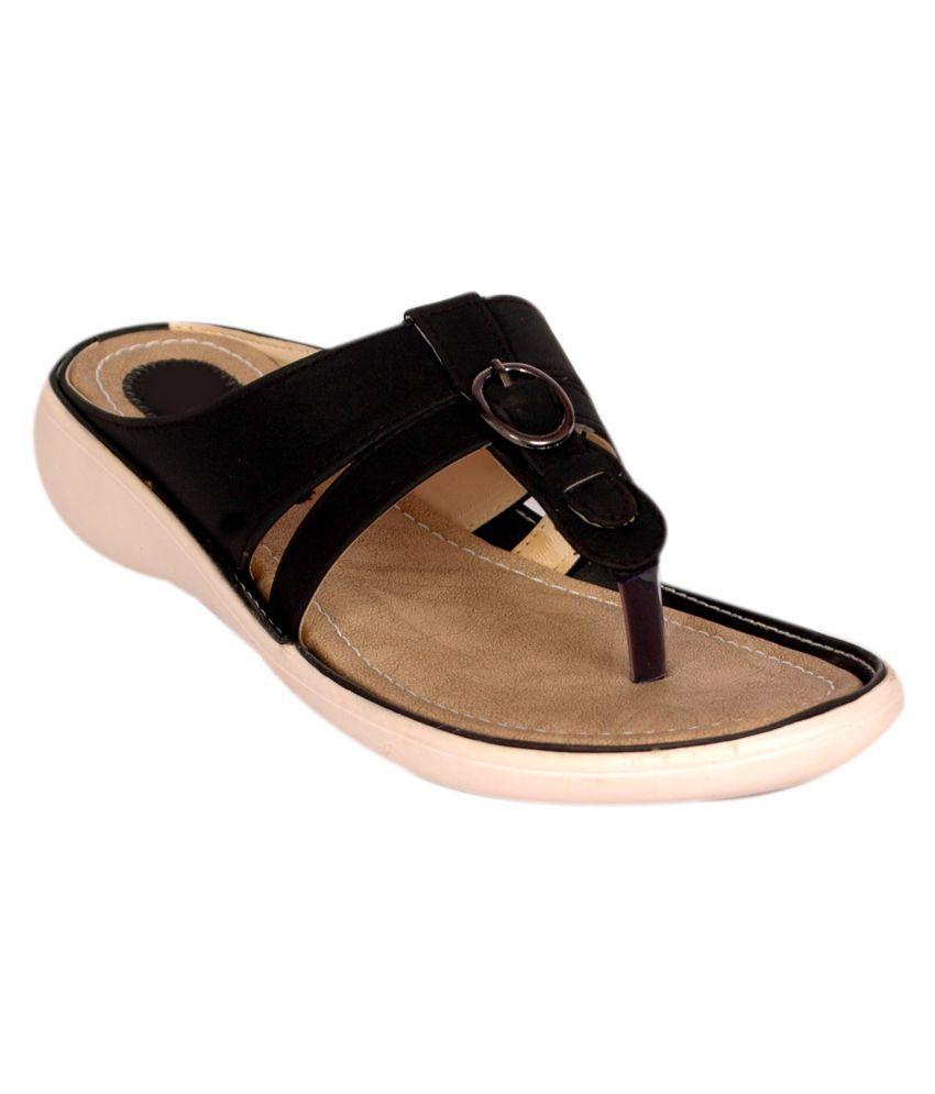 Bora Bora Black Wedges Heels