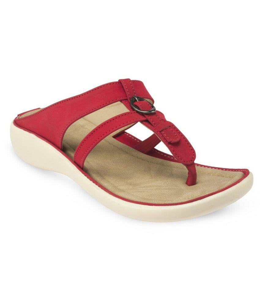 Bora Bora Red Wedges Heels