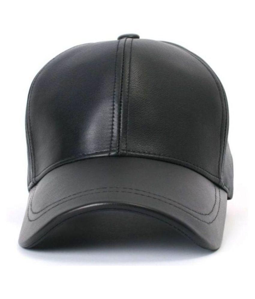 HOZIE Black Plain Polyester Caps