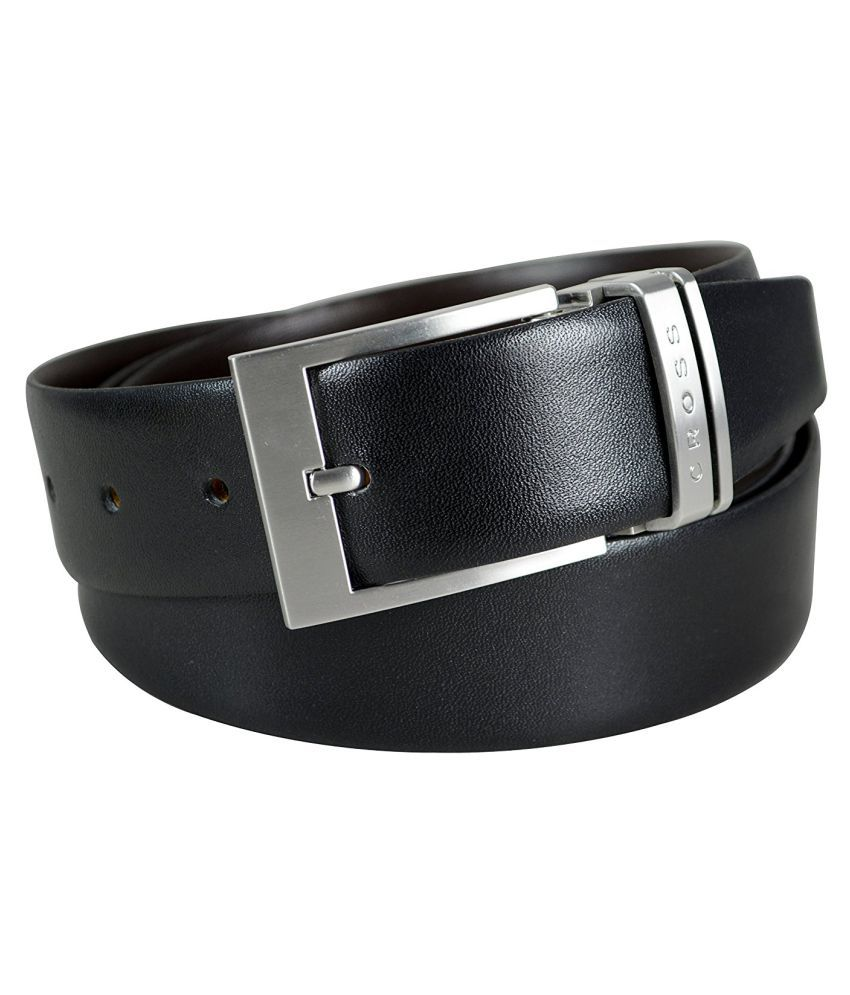 CROSS Black Leather Formal Belts