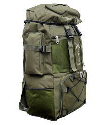 Hind 60-75 litre Green Hiking Bag