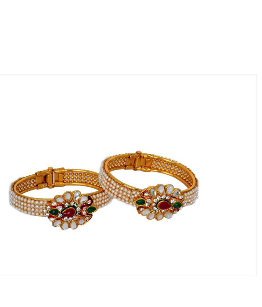Antique Multicolor Pearl Bracelet for Woman (Free Size)