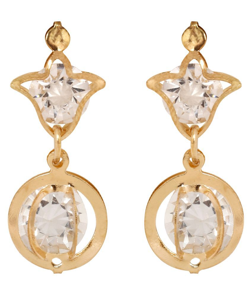 Jewels Gold Alloy Party Wear Traditional Stone Stylish Stud Earring Set For Women & Girls