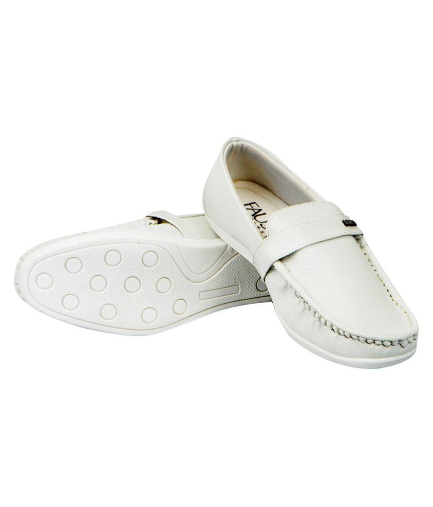 d2a74d721d2 FAUSTO White Loafers - Buy FAUSTO White Loafers Online at Best ...