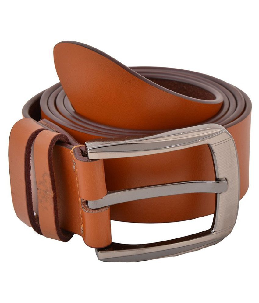 AVIDER Brown Leather Casual Belts