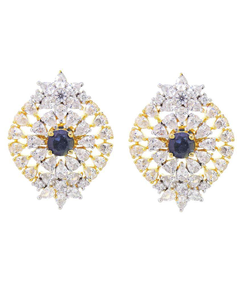 Contemporary Modern American Diamonds Stylish Party Wear Stud Earring For Girls / Women
