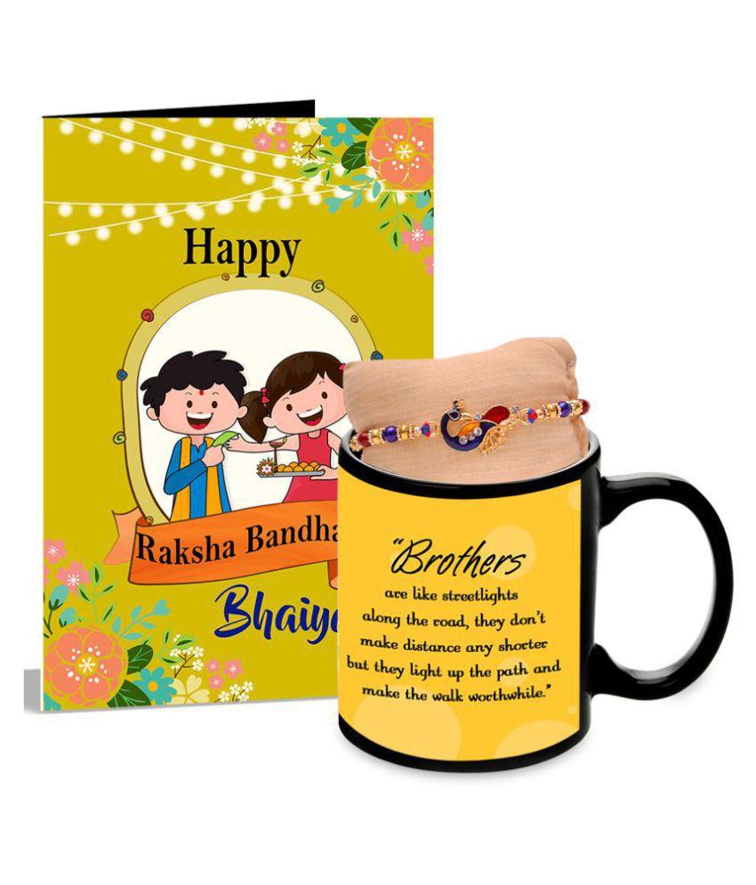 Rakhi Happy Raksha Bandhan Bhaiya Greeting Card Mug Hamper Buy