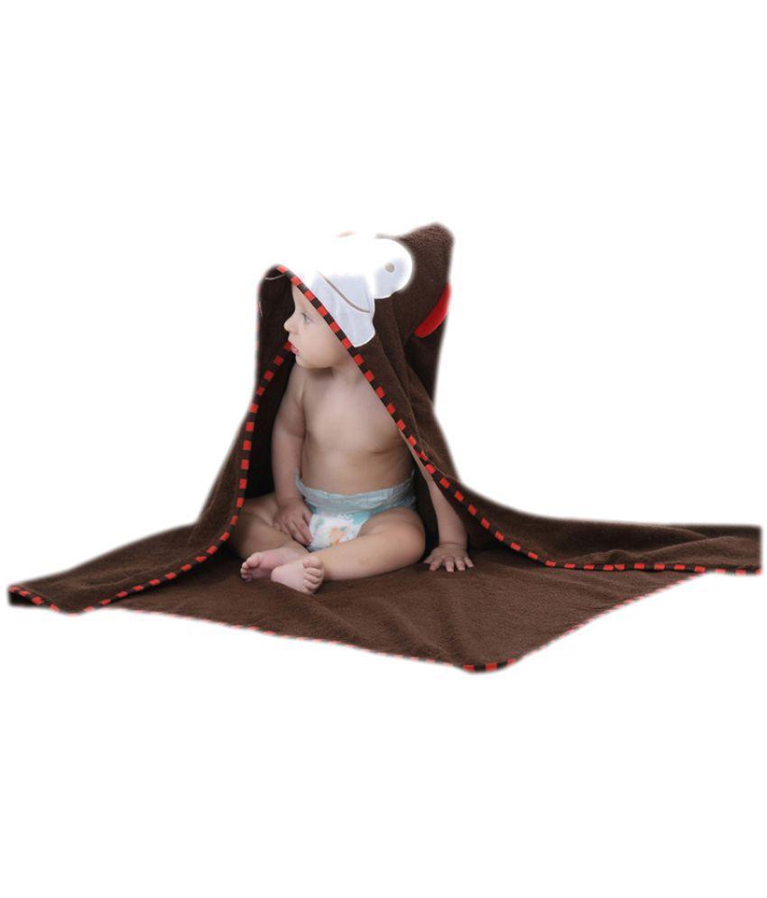 KIDSLOUNGE Brown Polyester Bath Towels
