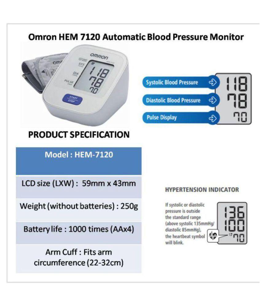 Medineeds Omron Hem 7120 Blood Pressure Monitor Buy Medineeds Omron
