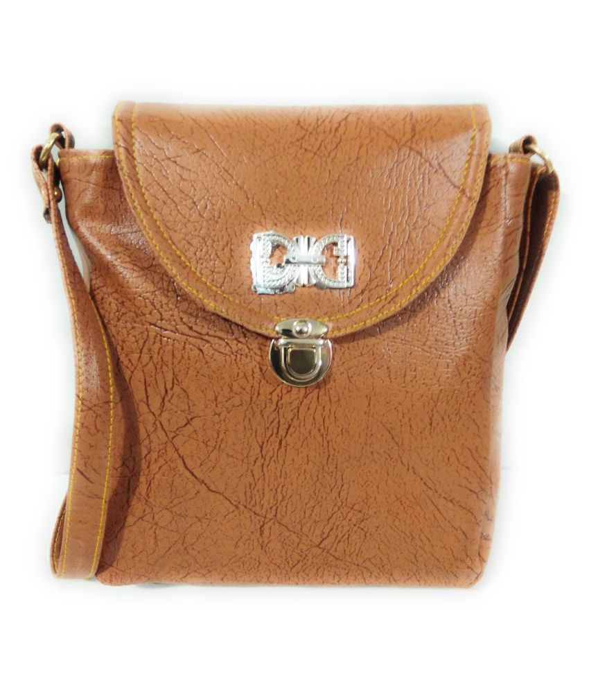 BAGRESE Tan P.U. Sling Bag