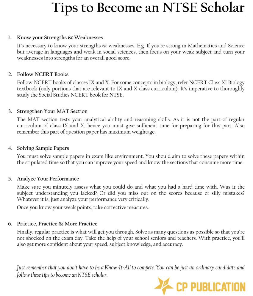NTSE Class-10 Practice Test Papers (Stage 1 & 2) By Career Point Kota