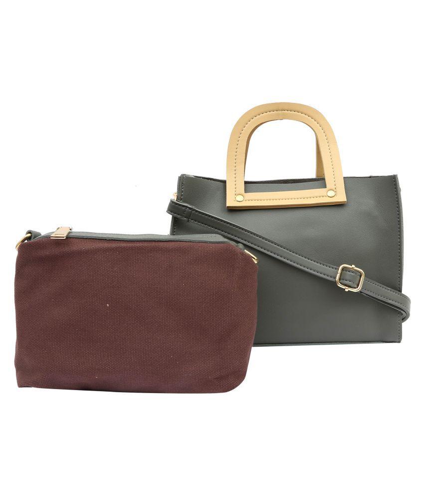 Pep Girls Gray P.U. Sling Bag