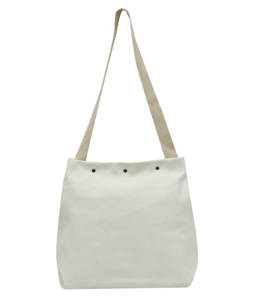Pep Girls White P.U. Sling Bag