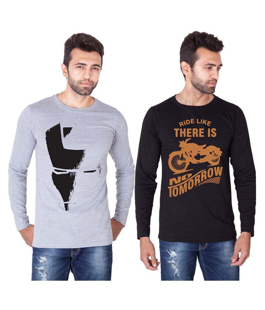 Veirdo Black Round T-Shirt