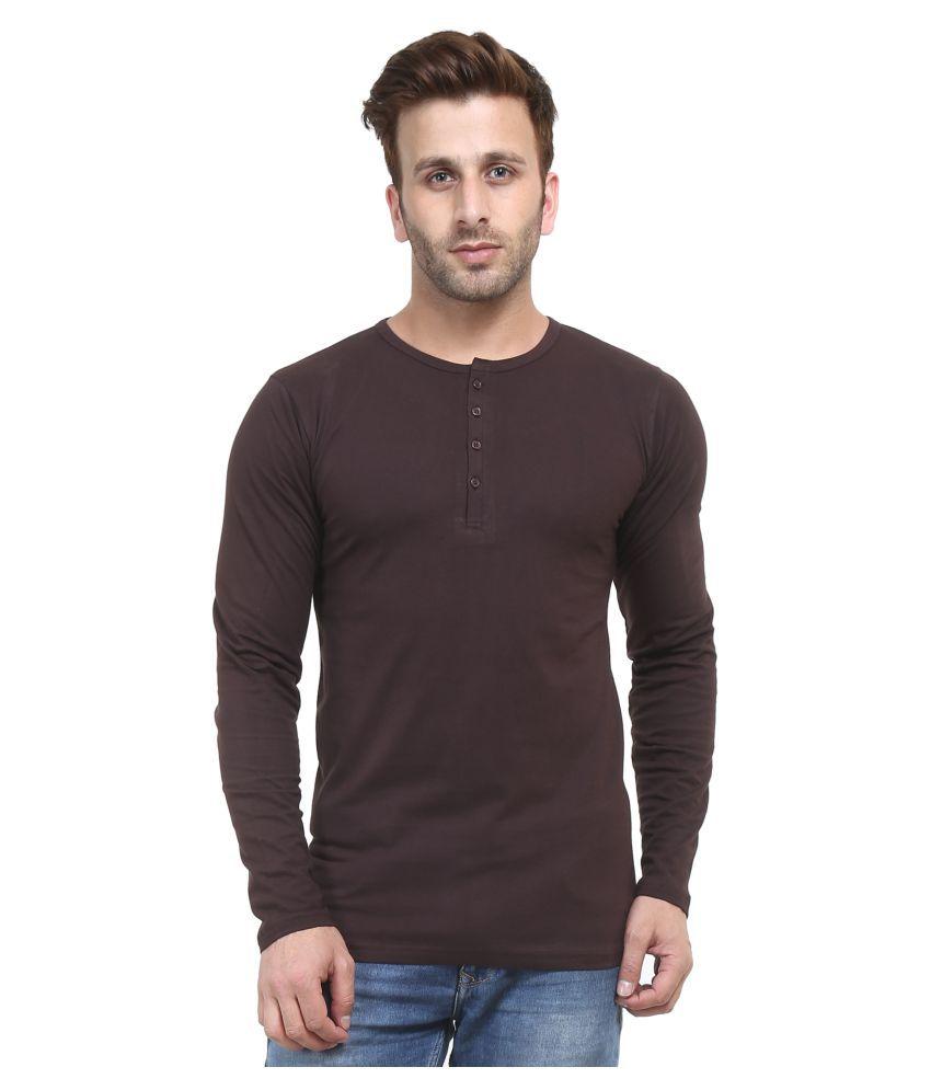 ACOMHARC INC Brown Henley T-Shirt
