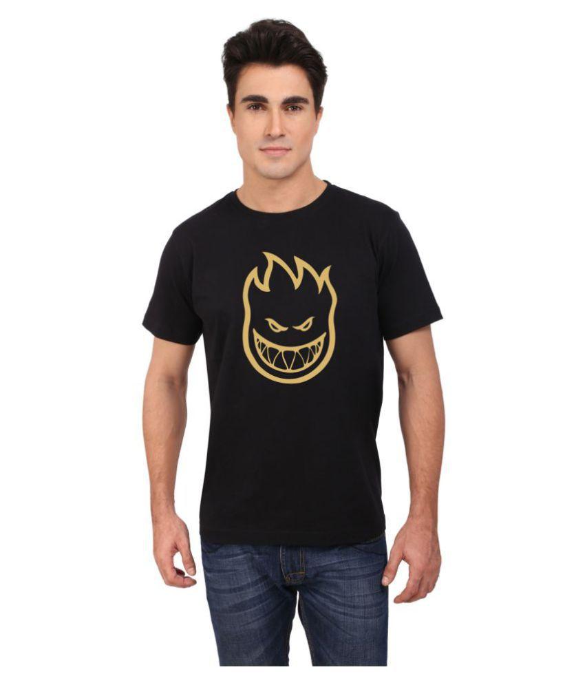 M-TAG Black Round T-Shirt