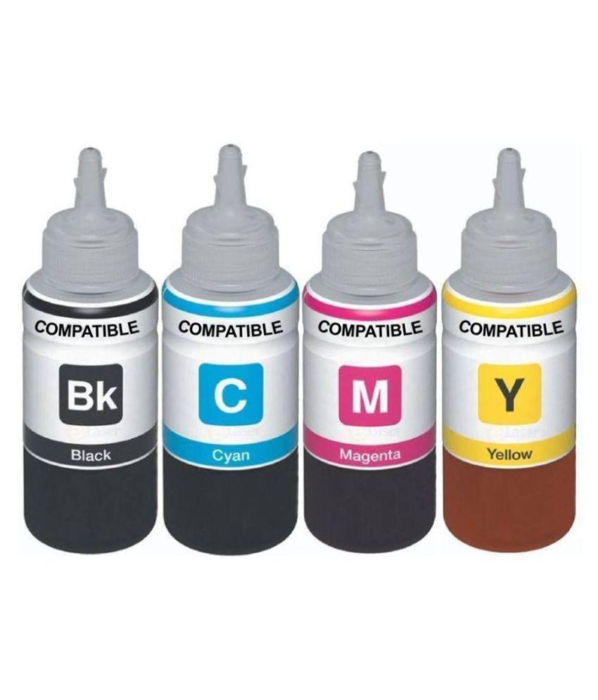 Greentech hp 680 printer ink Multi Pack of 4 Ink bottle for HP DeskJet 1115, 1118, 2135, 2138, 3635, 3636, 3638, 4675, 4678 Multi Color Ink