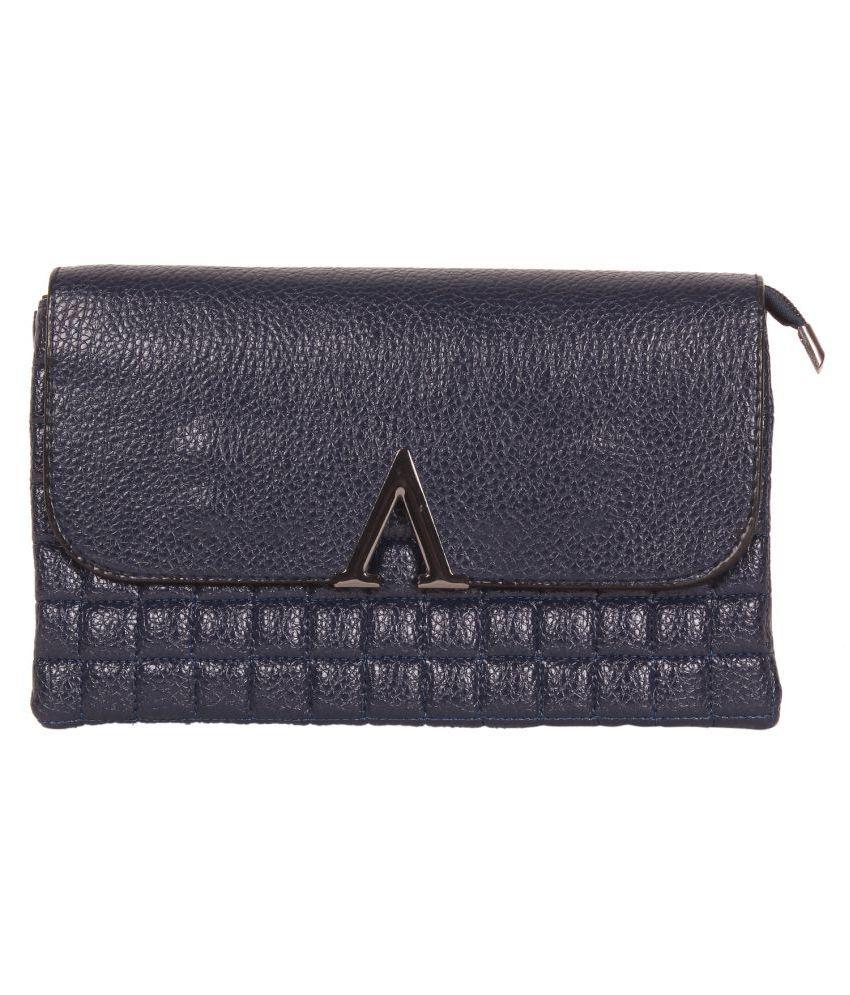 ZORNNA Blue Faux Leather Handheld