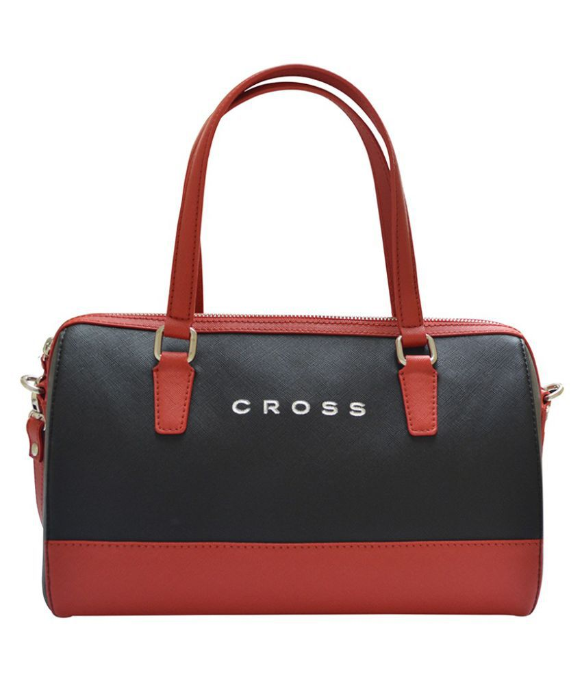 Cross Red Faux Leather Handheld