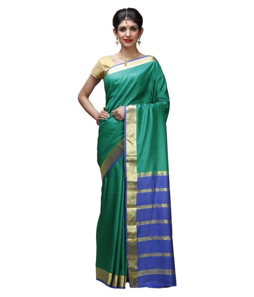 India Sari House Green Silk Saree