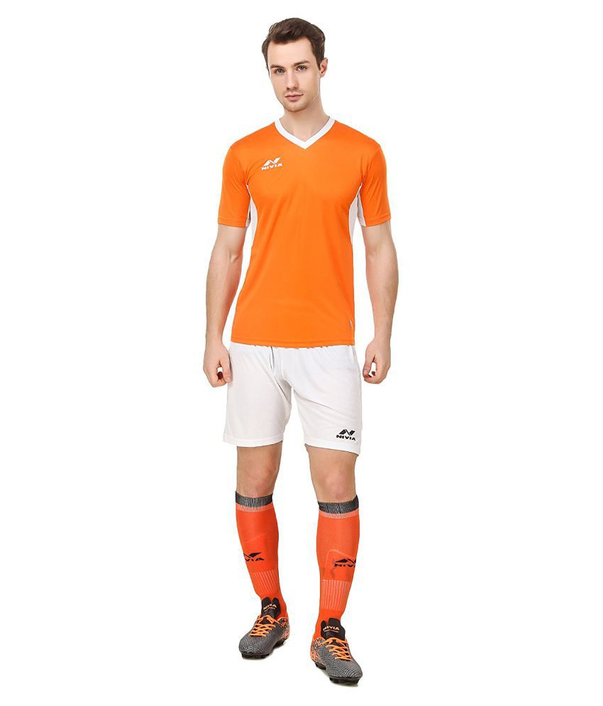 Nivia Orange Polyester Jersey Pack of 2