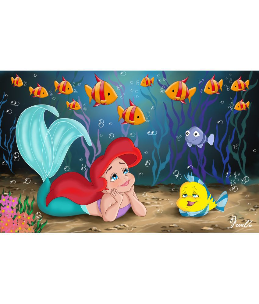 Mahalaxmi Art Craft The Little Mermaid Paper Wall Poster Without