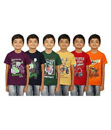 e0d75755b0 Quick View. Kiddeo Multicolour Cotton T-Shirt - Pack ...