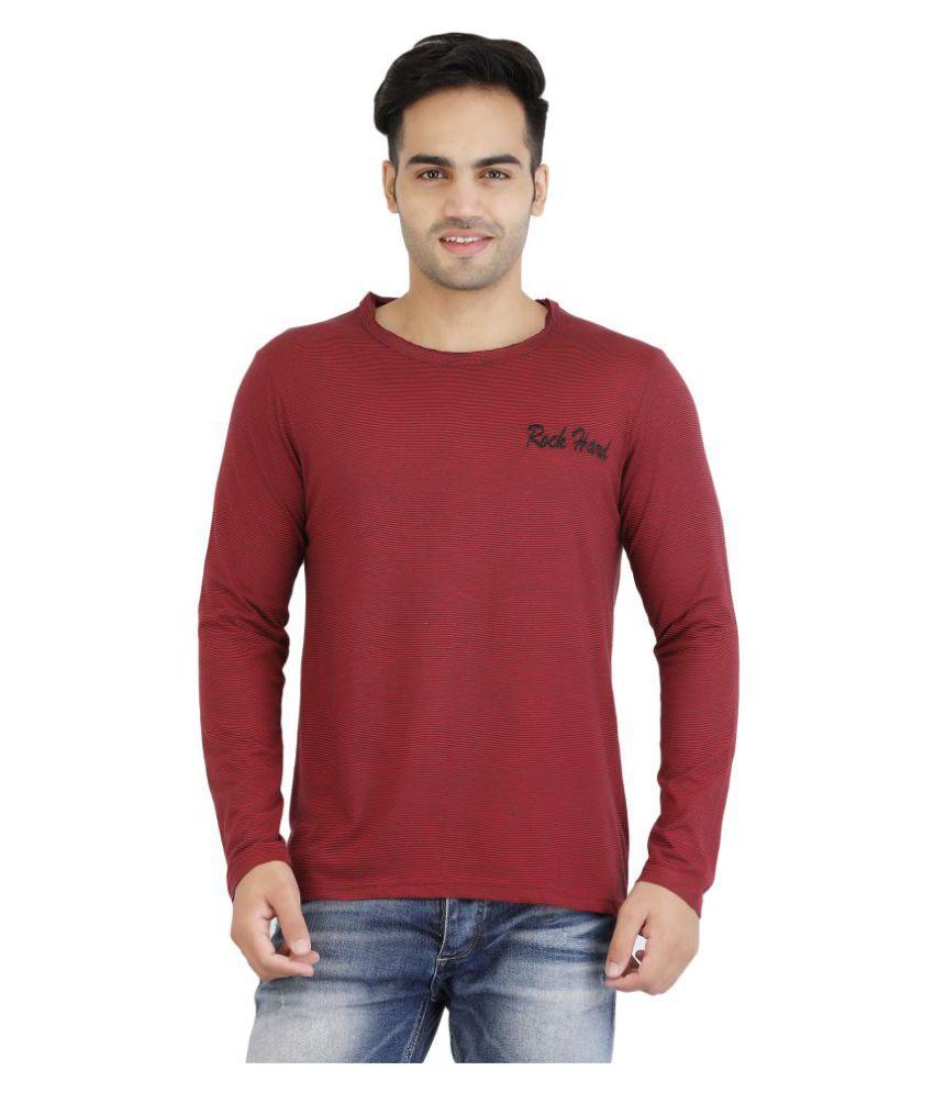 ROCKHARD Red Round T-Shirt