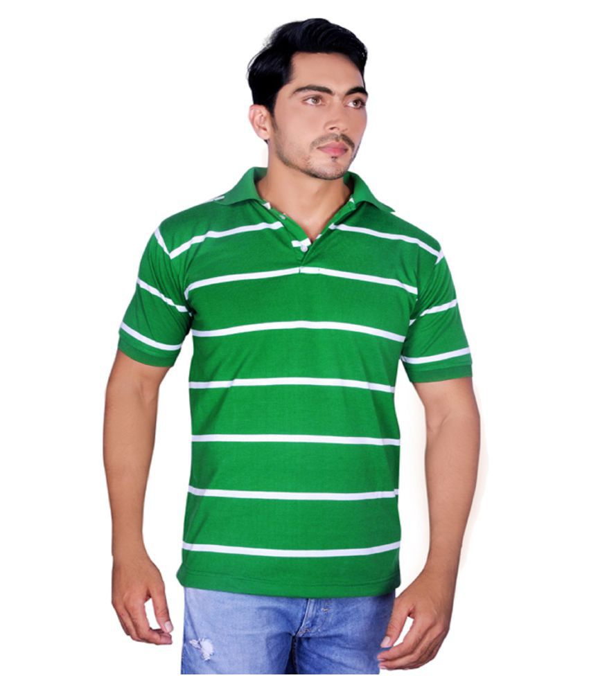 Dyed Colours Green High Neck T-Shirt