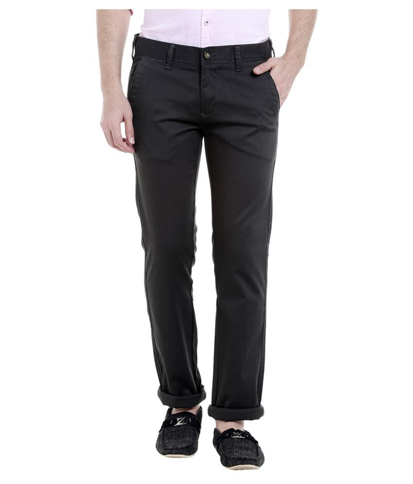 Killer Grey Slim -Fit Flat Chinos