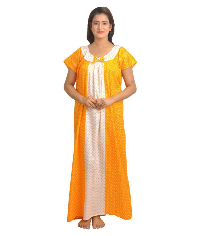 165acbfad5 Buy Piyali s Creation Women s Cotton Nighty   Night Gowns Online at Best  Prices in India - Snapdeal