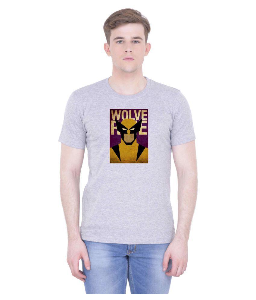 Voguestyle Grey Round T-Shirt