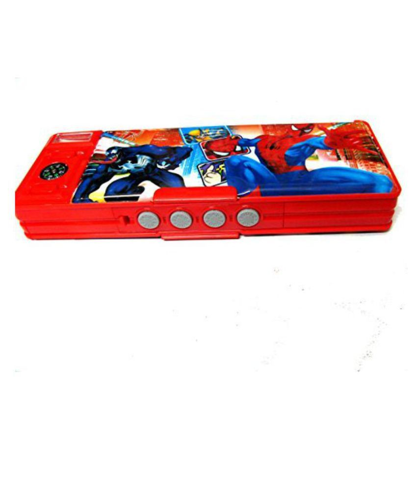 Double Sided Compass spiderman Pattern Pencil Box With Password Number Lock(Color/Design may ...  sc 1 st  Snapdeal & Double Sided Compass spiderman Pattern Pencil Box With Password ... Aboutintivar.Com