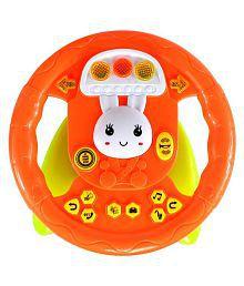 Planet Of Toys High Chair Educational Steering Wheel (Lights & Music) For Kids / Children