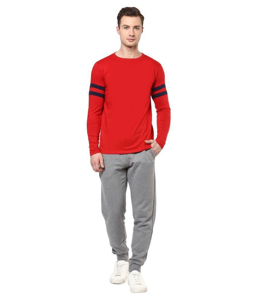 Veirdo Red Round T-Shirt