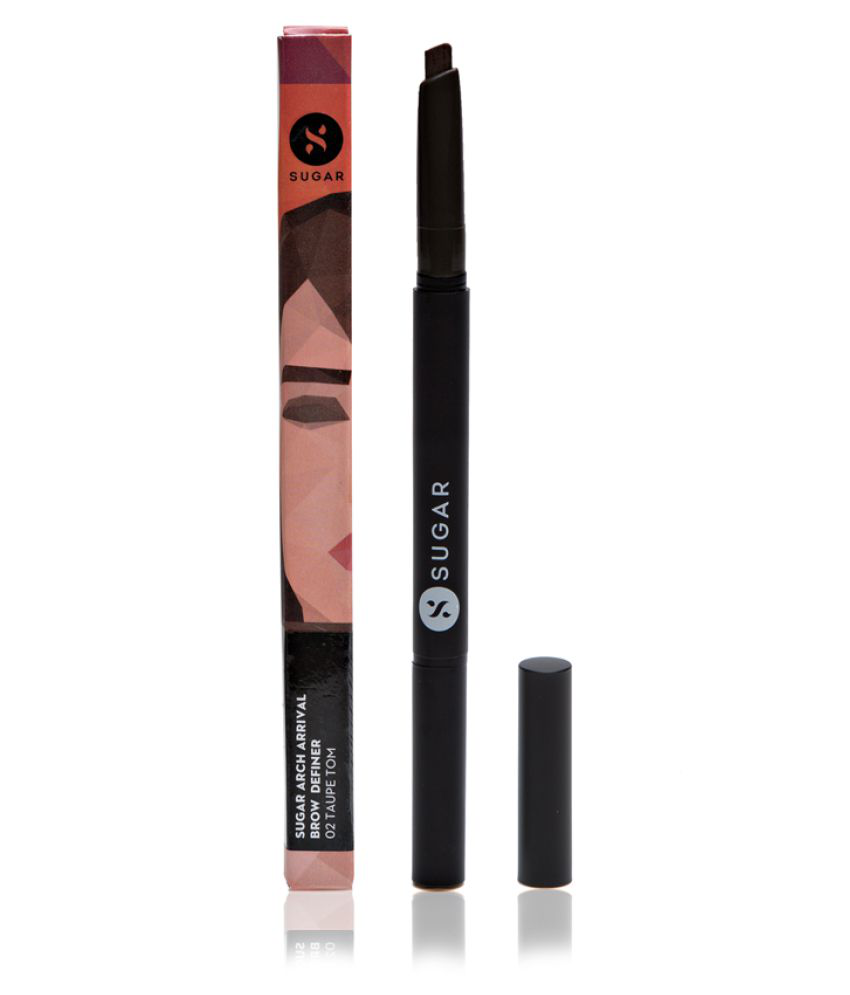 Sugar Cosmetics Brow Eyes Definer, 02 Taupe Tom (Grey Brown) 1 gm