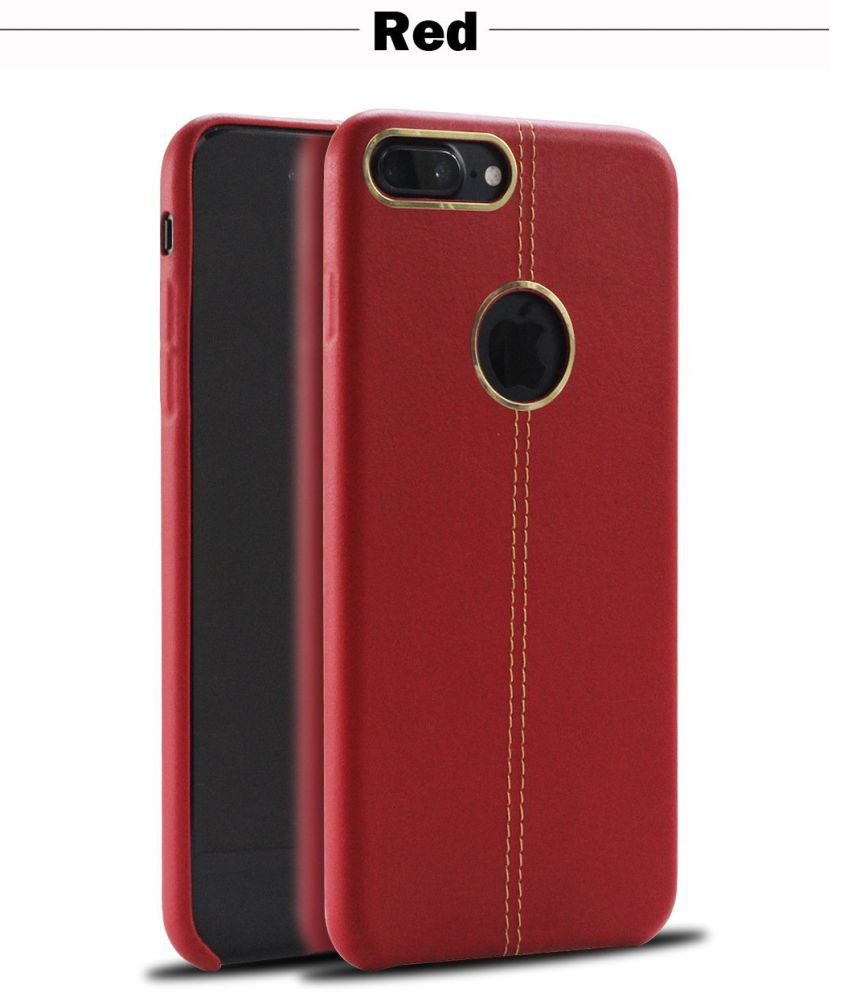 Apple Iphone 7 Plus Plain Cases Kolorfish Red Plain Back Covers