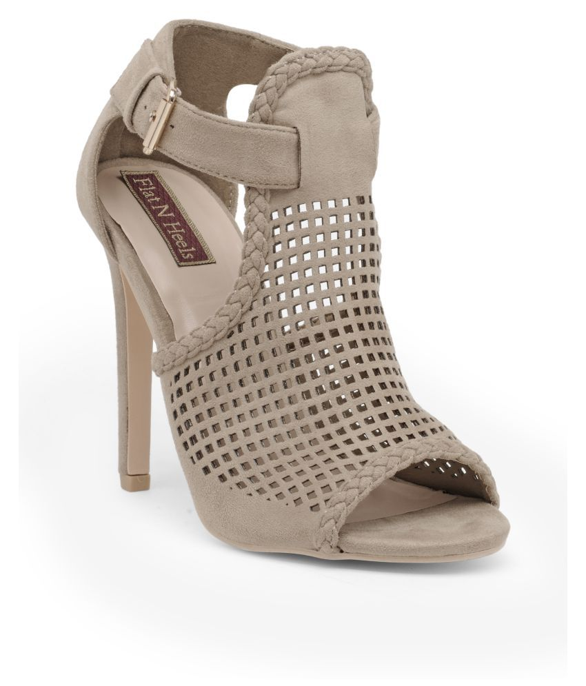 Flat n Heels Beige Stiletto Heels