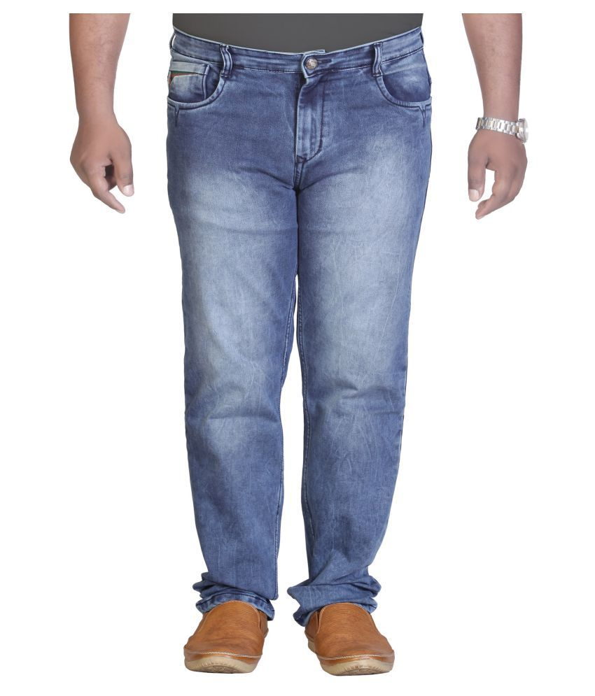 PRANKSTER Light Blue Straight Jeans