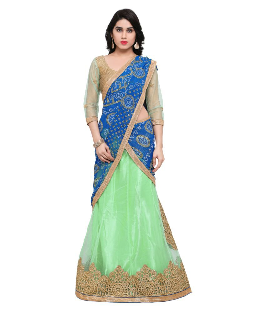 075aec4a6e Triveni Green Net Circular Semi Stitched Lehenga - Buy Triveni Green Net  Circular Semi Stitched Lehenga Online at Best Prices in India on Snapdeal