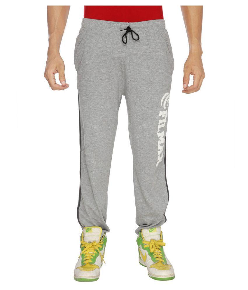 Filmax Grey Cotton Trackpants Single