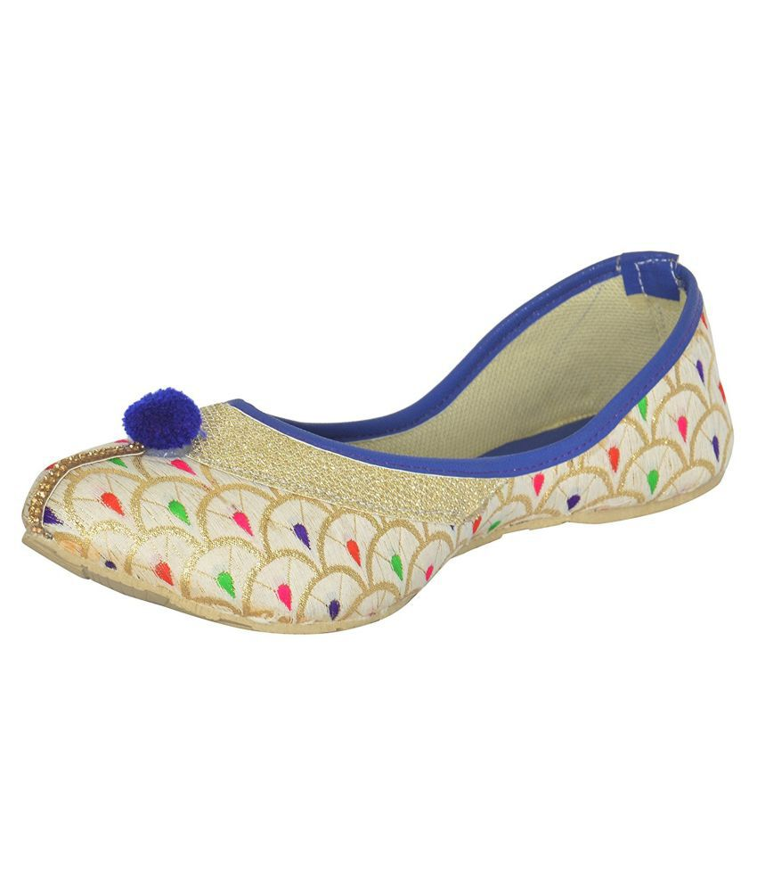 Red Choice Multi Color Flat Ethnic Footwear
