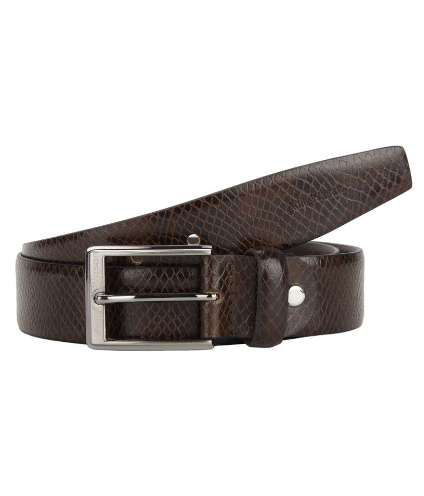 Aditi Wasan Brown Leather Formal Belts