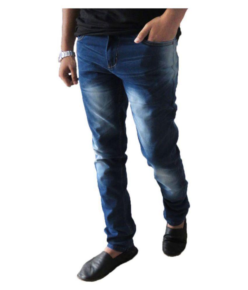 ONE Z Blue Regular Fit Jeans