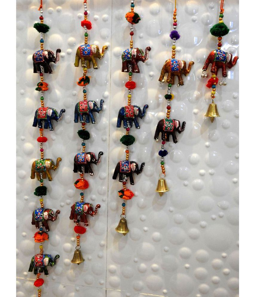 Royal Arts And Crafts Handmade Rajasthani Elephant Hanging